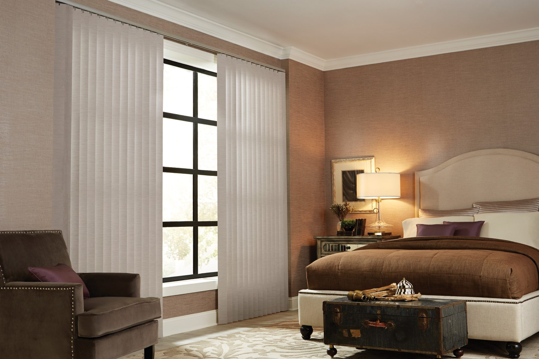 Graber Vertical Fabric Blind Sunset Blind And
