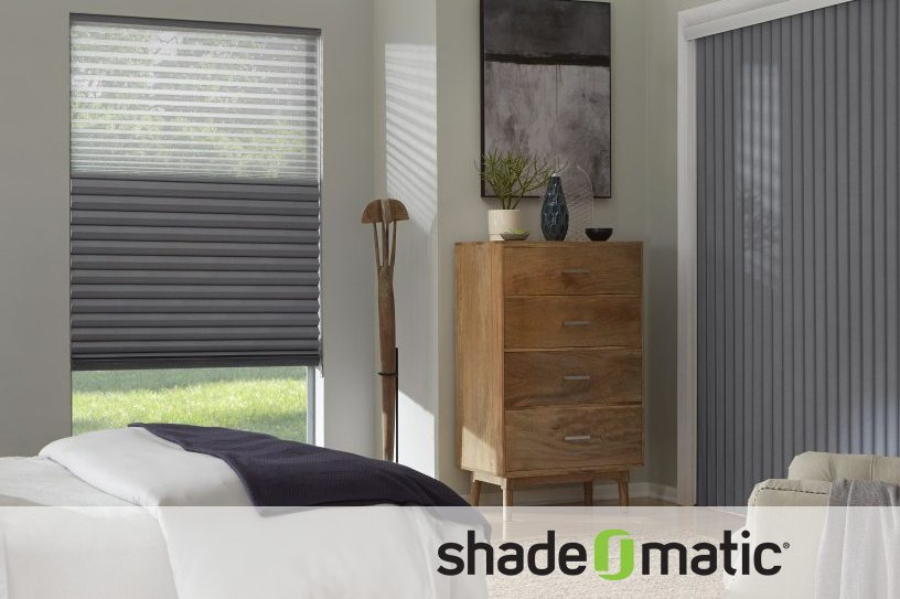 Shade O Matic Pleated Hybrid Shade Sunset Blind And